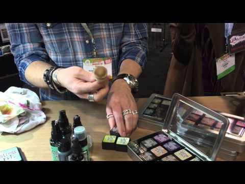 Tim Holtz demos at Ranger - CHA Mega Show 2015