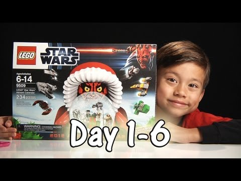 LEGO STAR WARS Advent Calendar Review Set 9509 - 2012 - Day 1-6