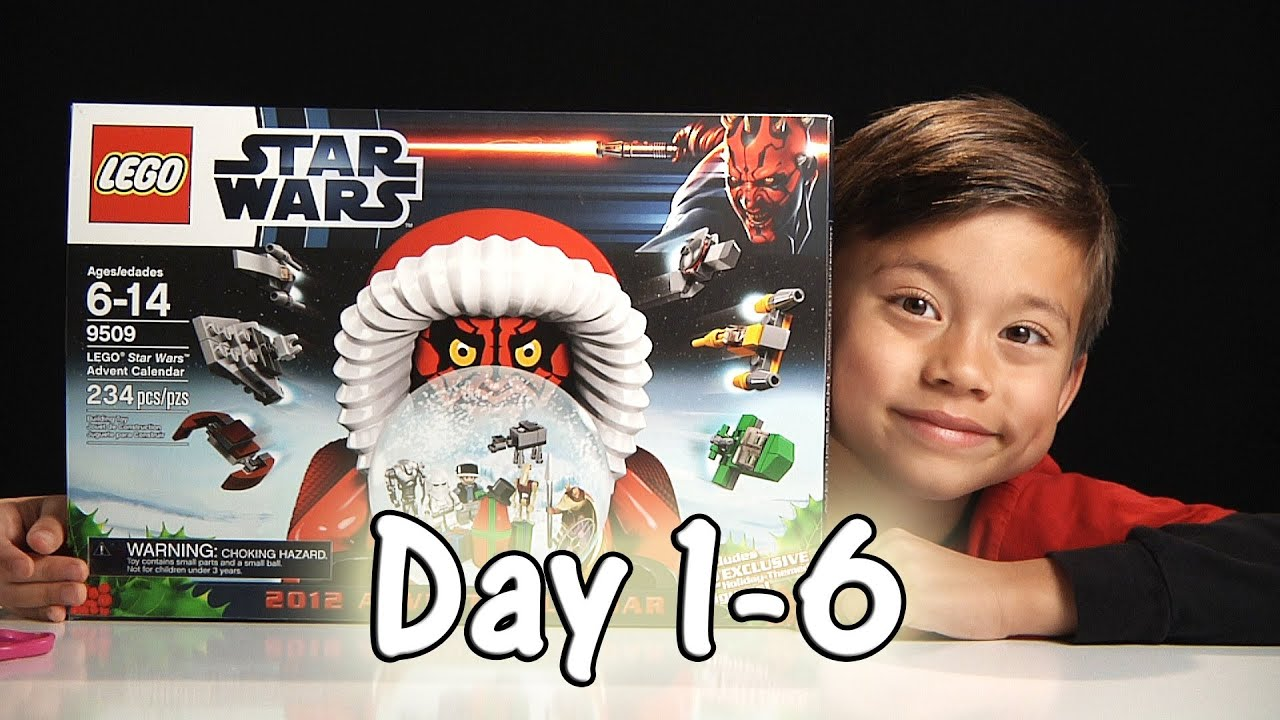LEGO STAR WARS Advent Calendar Review Set 9509 - 2012 - Day 1-6 ...