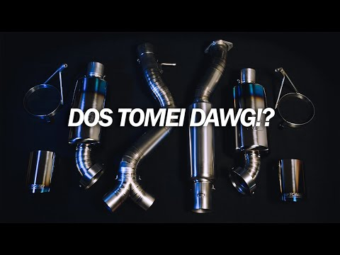 unboxing 350z tomei dual exit tomei japan ti racing titanium exhaust for nissan z33