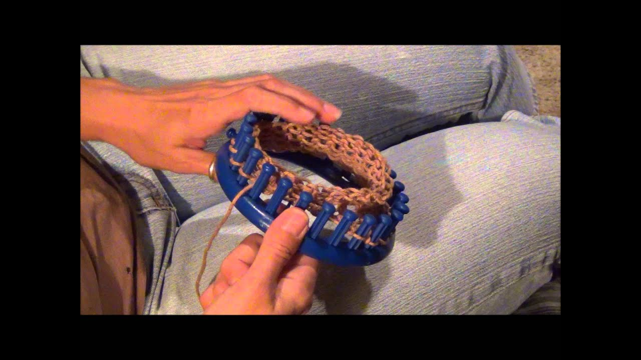 Gathered Cast Off Or Bind Off On A Round Knifty Knitter Knitting