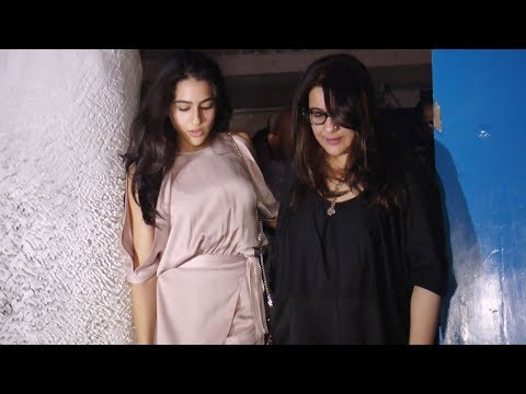 Sara Ali Khan SPOTTED partying with mom Amrita Singh | Watch Video