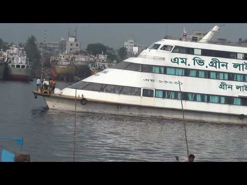 Green Line The First Speed Water Base BANGLADESH Beautiful Ship Launch Full HD Video 116