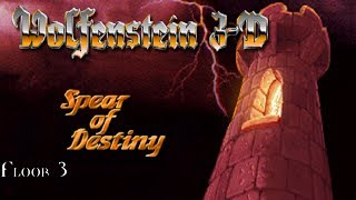 Wolfenstein: Spear Of Destiny (DOS) Floor 3: Cave In!