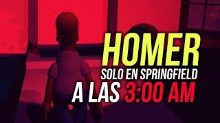 HOMERO SOLO EN SPRINGFIELD A LAS 3:00 AM | LOS SIMPSONS CREEPY - EGGS FOR BART CHAPTER 2