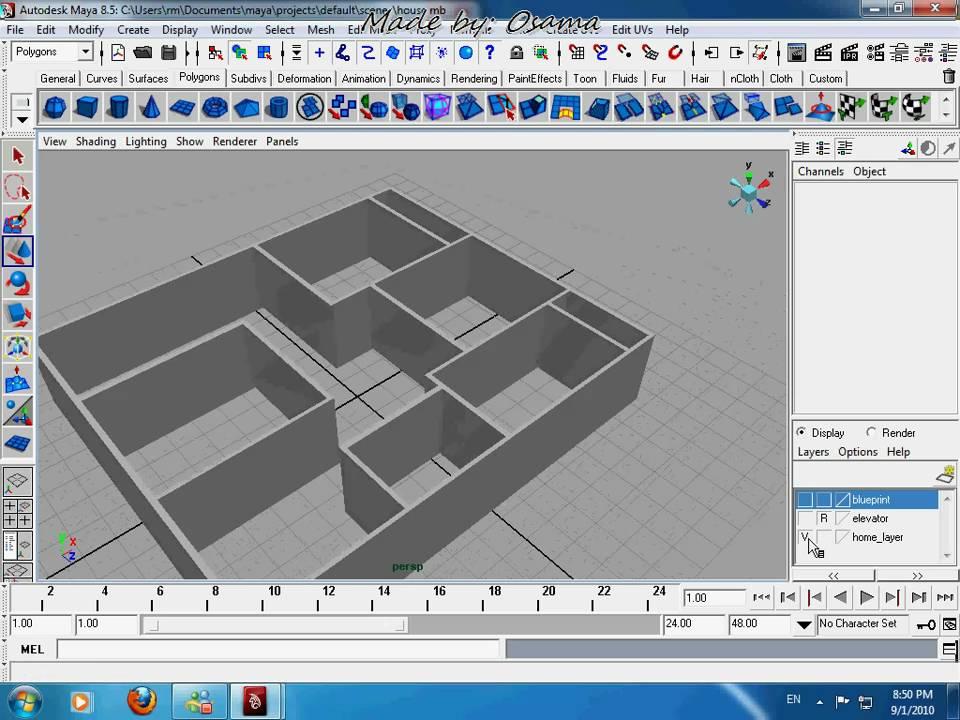 Maya Tutorial House Modelling Pt 1