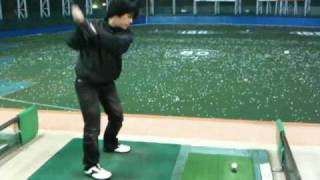 ゴルフを初めた頃の様子です。