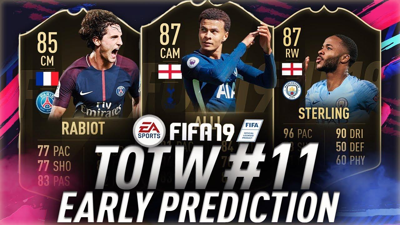 totw 11 predictions fifa 19