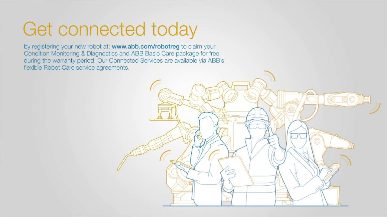 ABB Robotics - Connected Services Animation on