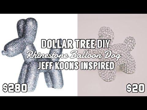 DOLLAR TREE DIY | RHINESTONE BALLOON DOG | JEFF KOONS INSPIRED | $ LUXE LOOK FOR LESS $