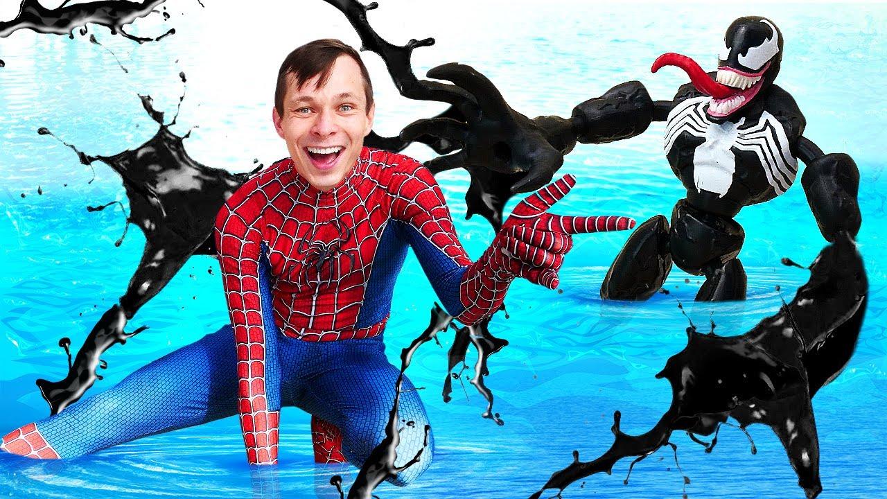 Новый Человек Паук в Аквапарке – Супергерой Акватим против ...