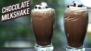 Chocolate Milkshake Recipe - Cafe Style Cold Coco - How To Make Chocolate Milkshake - Ruchi