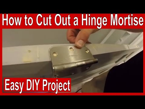 How To Cut Out A Door Hinge