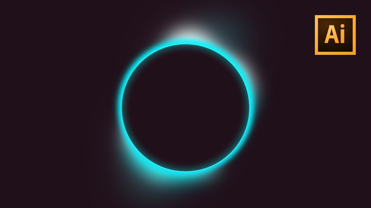 The EASIEST Way To Design A Breathtaking Eclipse In Illustrator