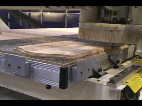 5 Piece Raised Panel Doors On Thermwood Cnc Router Youtube