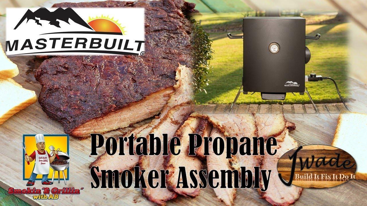 masterbuilt propane smoker build and 1st impressions