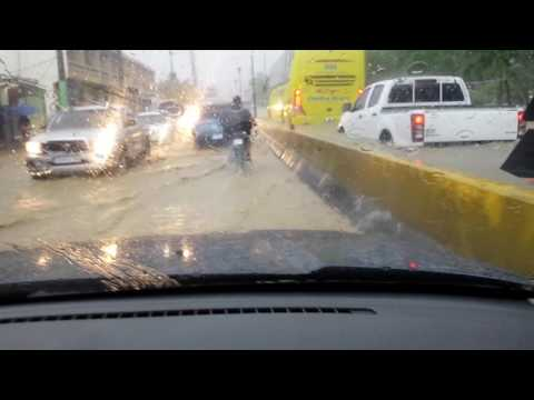 Driving in the rain in Dominican Republic today.