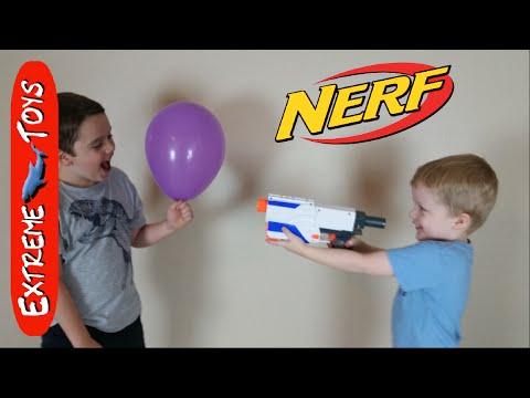 Fun win Nerf Guns and balloons!
