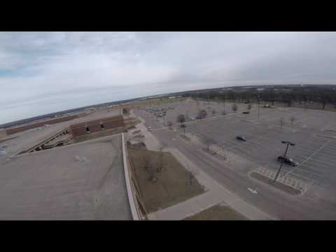 Drone At South Elgin High School (FLYING IN THE SCHOOL)