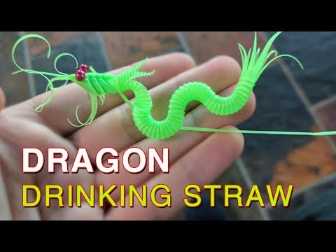 How to make simple Dragon out drinking straws - make origami Dragon |Drinking Straws