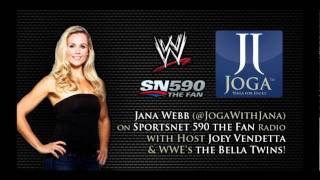 jana webb talks joga with the bella twins and joey vendetta on the sportsnet radio the fan 590