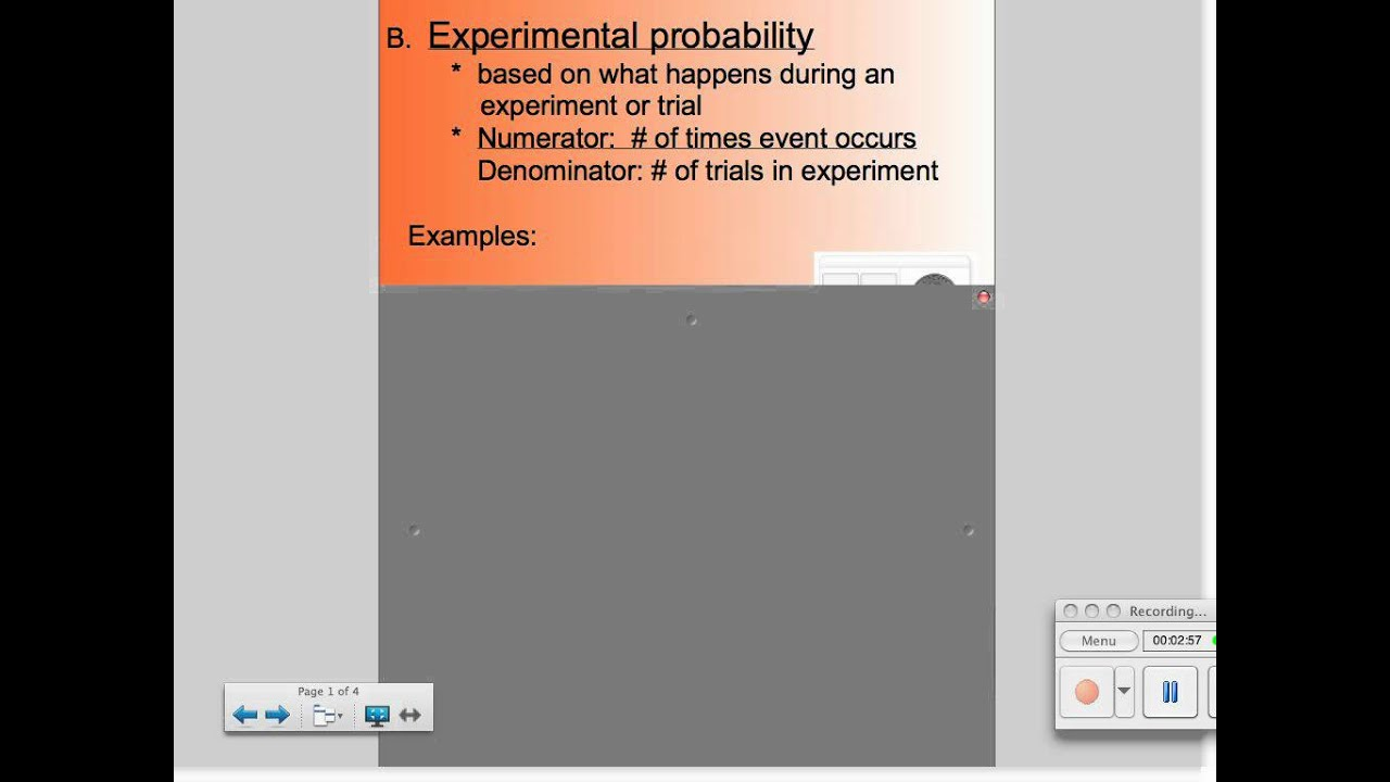 Worksheets Theoretical And Experimental Probability Worksheet theoretical probability vs experimental youtube probability