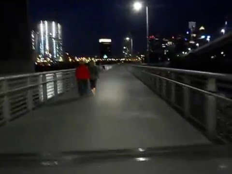 Schuylkill Banks Boardwalk at night