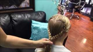 how to do a heart shaped braid tutorial
