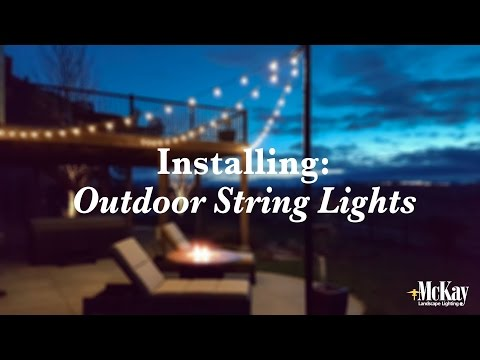 Installing Outdoor Bistro String Lights | Behind the Scenes Installation - Omaha Nebraska