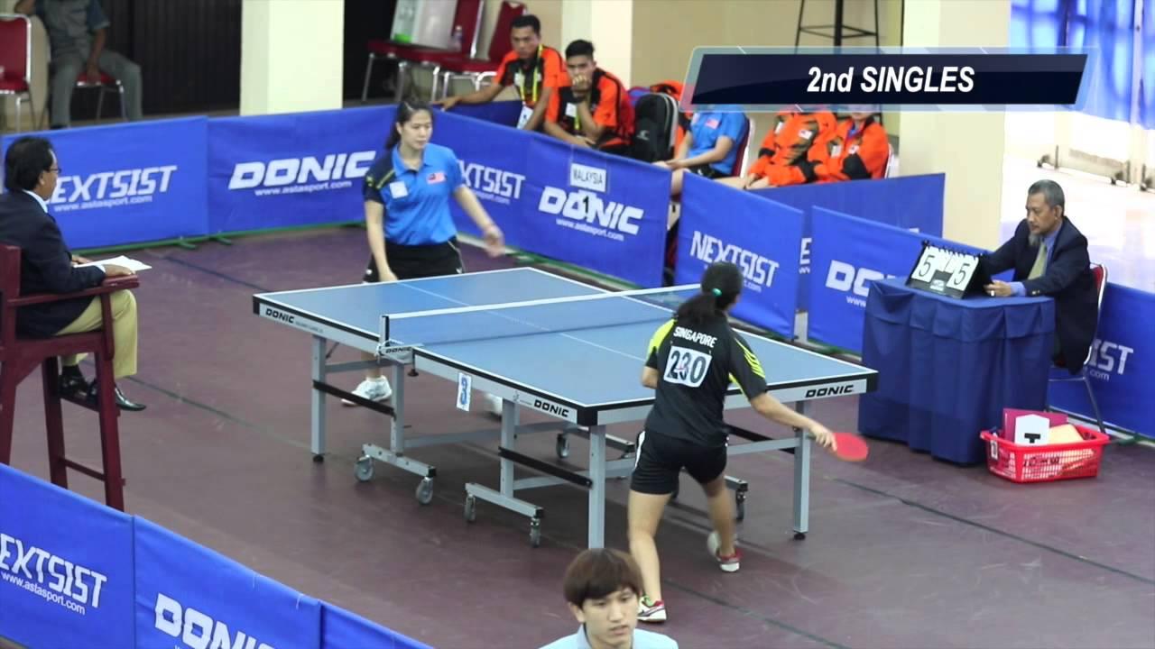 ASEAN University Games 2014  Table Tennis (W) Team - Singapore vs Malaysia a30bd9d31557