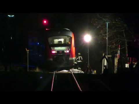 Unfall mit Zug der Erzgebirgsbahn 20.11.2017 in Thalheim