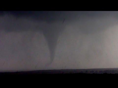 Large, rain-wrapped tornado near Howardwick, TX: May 22, 2016