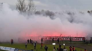 LEIPZIG DERBY Pyro Support Choreo 22.11.2017 1. FC Lokomotive Leipzig - BSG Chemie Leipzig 0:0