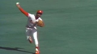 Ozzie makes an incredible diving stop, throw