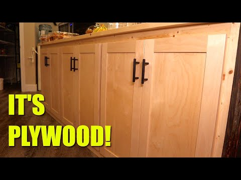 Making Cabinet Doors From Plywood?!
