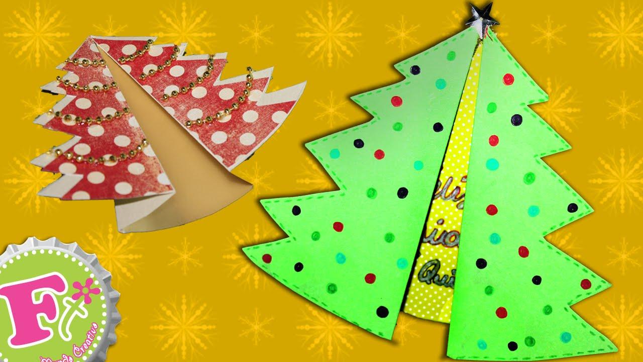 Tarjeta navide a arbolito plegable viyoutube - Hacer tarjeta de navidad con foto ...