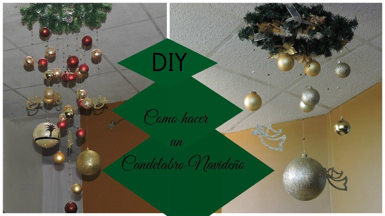 Diy como hacer un candelabro navide o youtube - Como hacer candelabros ...