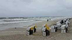 Heute Ostsee Wetter Sturm auf Insel Usedom Regen Deutschland Urlaub