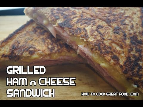 Grilled Cheese Sandwich Recipe - Ham & Cheese