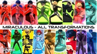 Miraculous Ladybug - ALL TRANSFORMATIONS(without Pegasus)