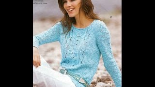 Женский Джемпер Спицами - видео - 2019 / Female Sweater Knitting Needles -video/ Strickjacke