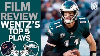 Carson Wentz's Top 5 Plays vs. the Chicago Bears | Film Review | NFL Network