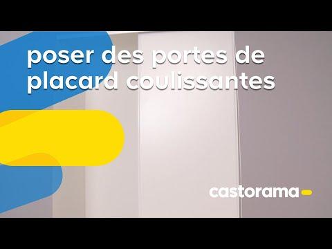 Installer un placard coulissant sous escalier part 1 install a sliding sto - Poser des portes coulissantes ...