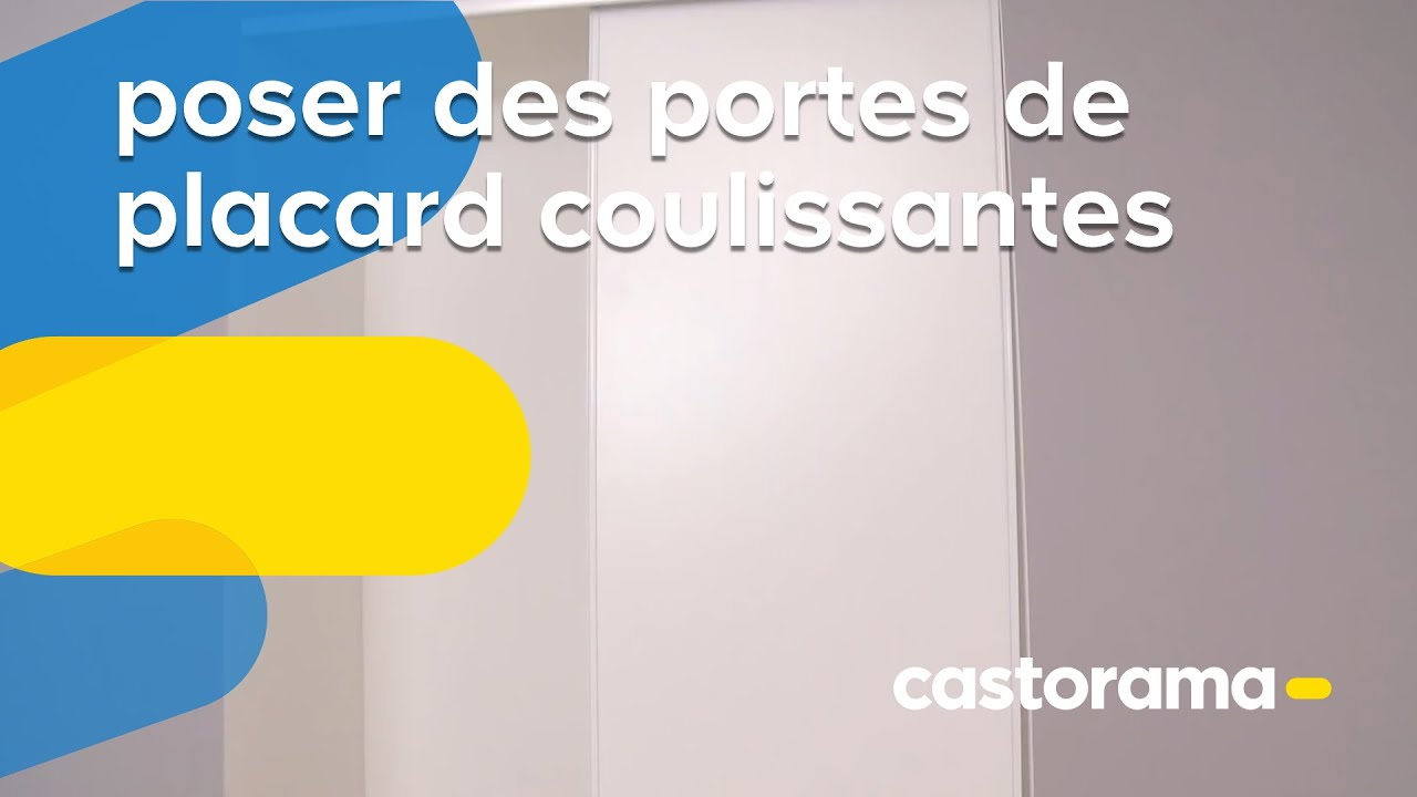 Poser des portes de placard coulissantes castorama youtube for Verin pour porte de garage basculante