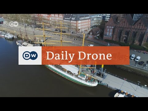 #DailyDrone: Schlachte Embankment on the Weser River | DW English