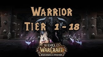 World of Warcraft - Warrior Tier 1 to 18 All Armor Sets