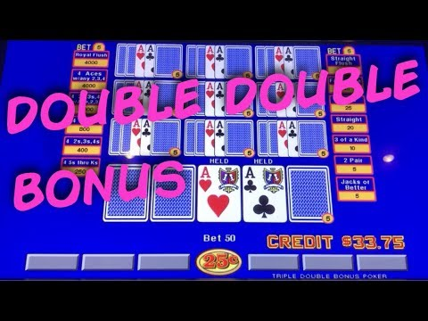 Ten Play Triple Double Bonus Video Poker 2018! live play