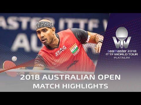 Gauzy Simon vs Achanta Sharath Kamal   2018 Australian Open Highlights (R32)