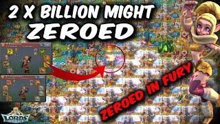 Billion Might Players Zeroed | Zeroing Player In Fury Total Destruction | Lords Mobile
