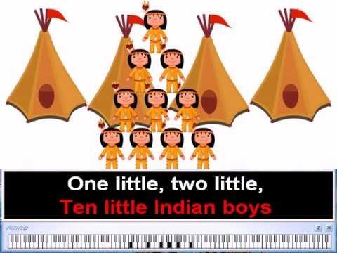 Ten Little Indian Boys  Nursery Rhymes  Children Folk Song Karaoke